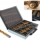 170pcs/box HSS Engineering Twist Drill Bit Round Handle Drill Bits Set 1-10mm