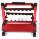 Portable Fishing Rod/Pole Holder 12 Slot Aluminium Fishing Rod Stand Rack red
