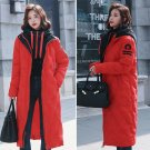 Women's Full Length New Fashion Winter  Down Cotton Coat with Hoody