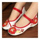 Small White Shoes Old Beijing Cloth Embroidered Shoes