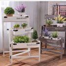 3 tiers Wooden Storage Flower Shelf Flower Rack DIY