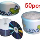 50pcs DVD+R DL  4.7GB White Cover Inkjet Printable 8X Blank Media Disc