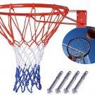Basketball Hoop Net Ring Wall Mounted Outdoor Hanging Basket 18'' 45cm