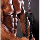 Title: Gym Push Pull Down Elevate Double Ended Rope Biceps Tricep Cable Exercrise