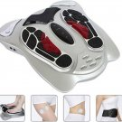 Electromagnetic Wave Pulse Circulation Foot Massager Reflexology Booster+8 pads