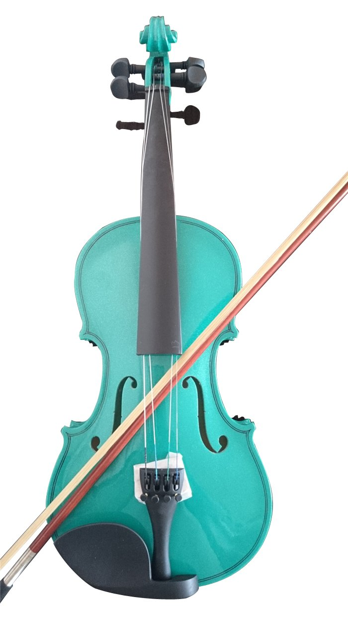Student Acoustic Violin Maple Spruce with Case Bow Rosin Green Color