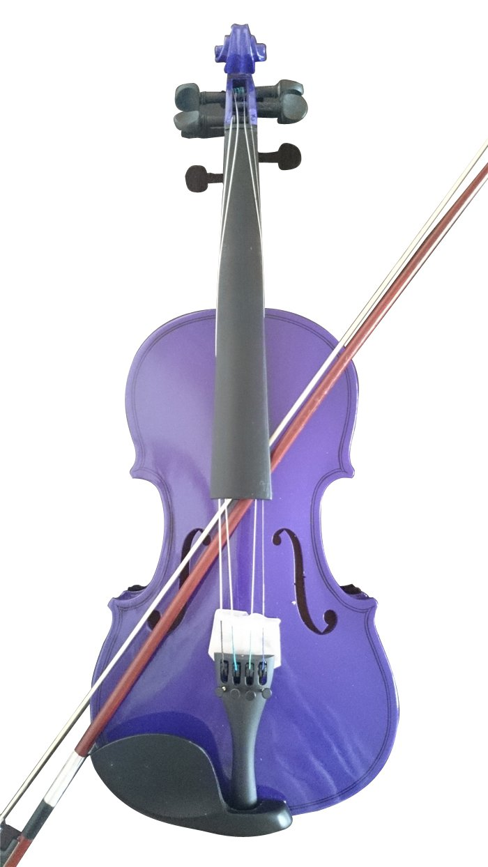 Student Acoustic Violin Maple Spruce with Case Bow Rosin Purple Color