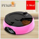 6 Meal Timed Auto Pet Feeder Dog Cat Digital Display Time-lapse Automatic Tray