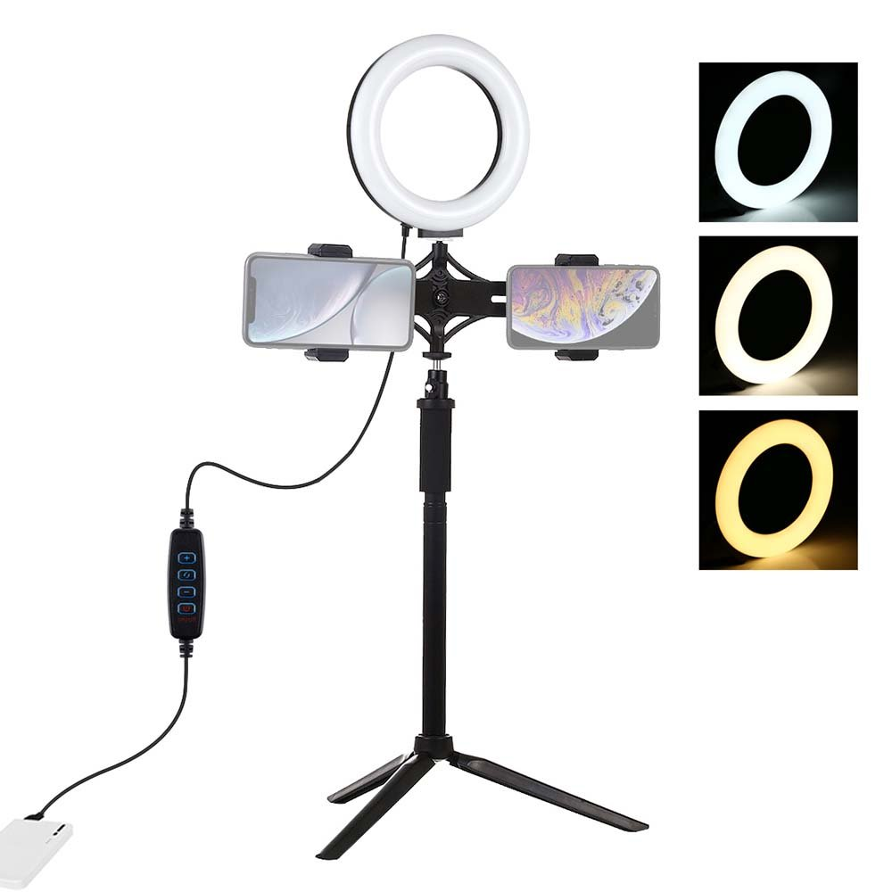 6.2 inch USB video ring light with tripod stand for live broadcast