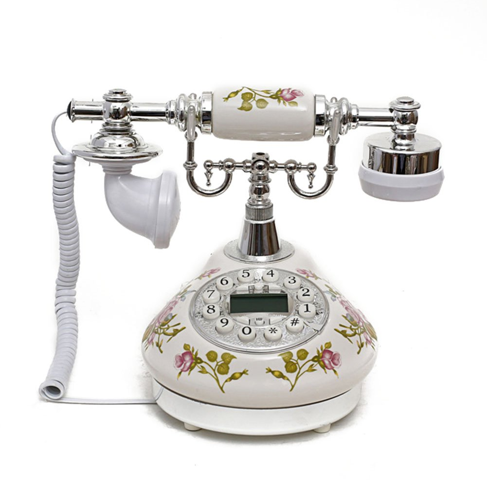Antique Style Rotary Phone Princess French Style Old Fashioned Handset Telephone  TC-501silver
