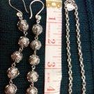 008 Handmade long dangle Earrings