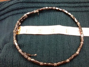 015 Handmade real Magnetic Hematite necklace