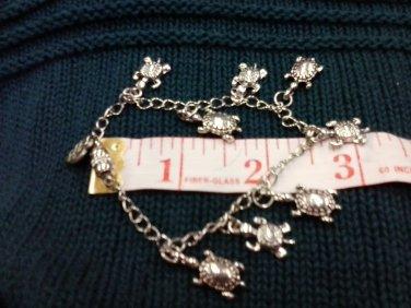 059 Unique Silver Turtle Jewelry Set