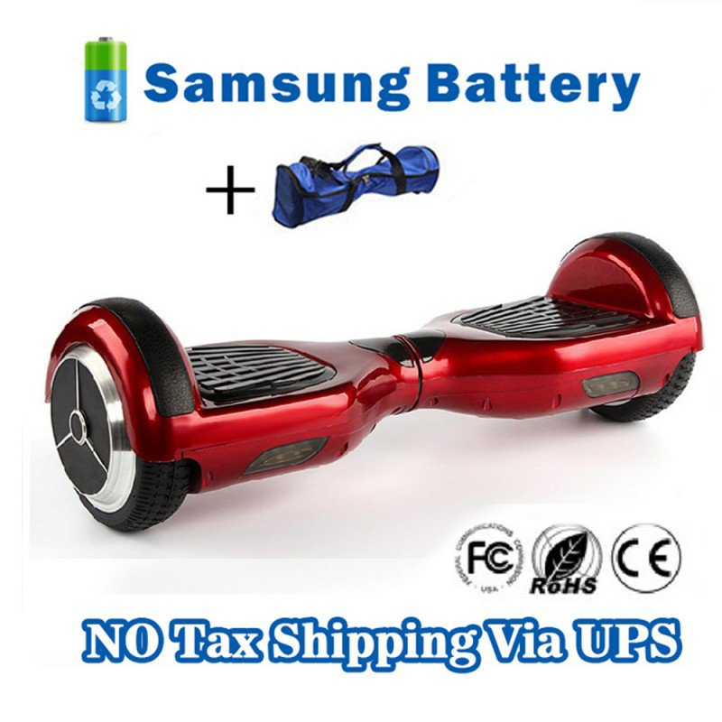 Dual Wheels Smart Self Balancing Electric Scooter Eco-friendly Vehicle Drifting Board - Red