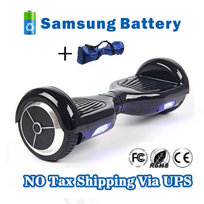 Dual Wheels Smart Self Balancing Electric Scooter Eco-friendly Vehicle Drifting Board - Black