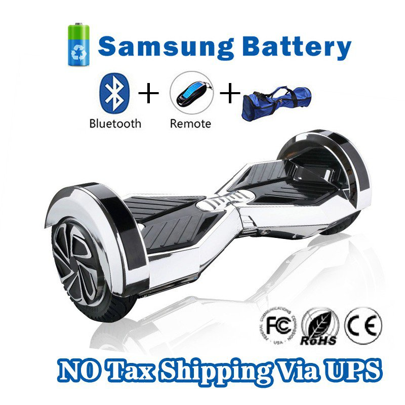 8 inches Bluetooth Hoverboard Self Balancing Scooter with LED Silver