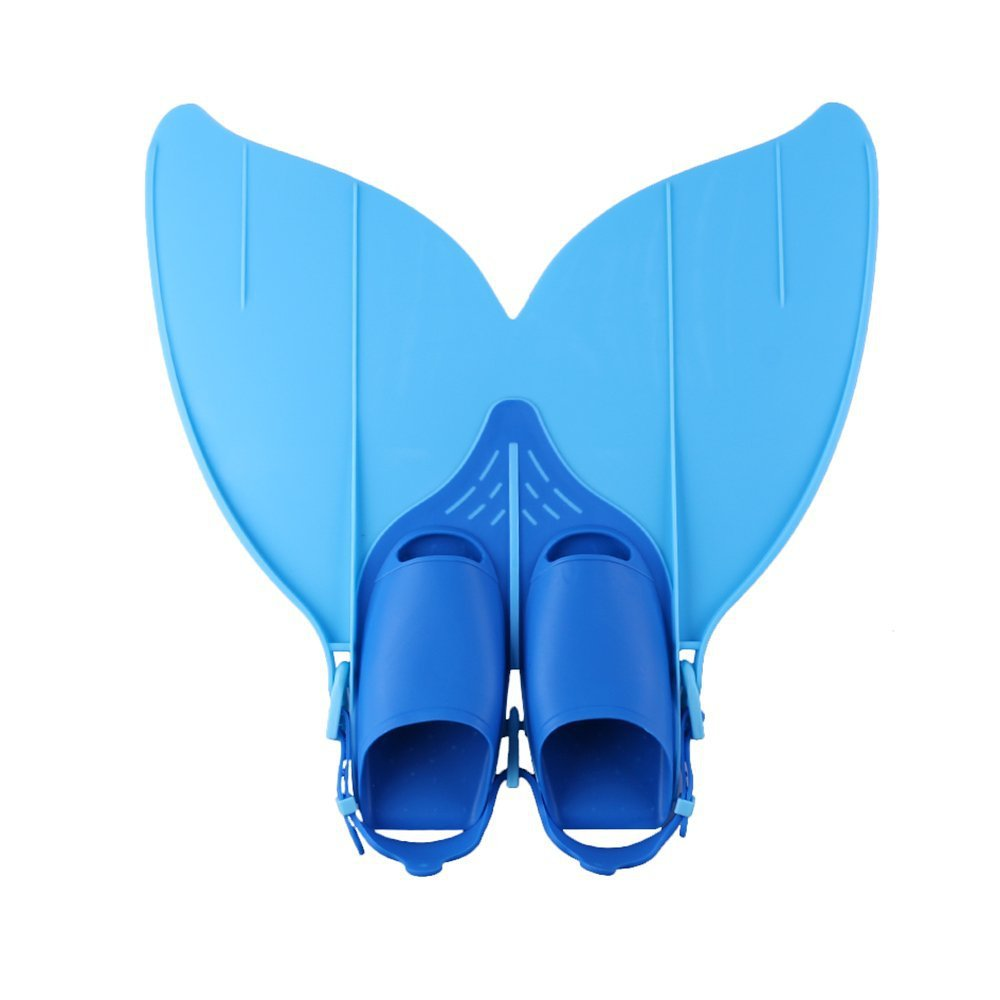 Adjustable Teen Flipper Adult Costume Mermaid Swim Fin - Blue