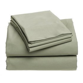 400-Thread-Count 100% Cotton Sateen King Sheet Set, Celadon