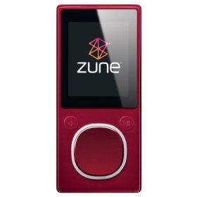 Zune 4 GB Digital Media Player Red (2nd Generation)