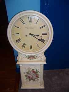 Antique Old Country Rose Wall Clock