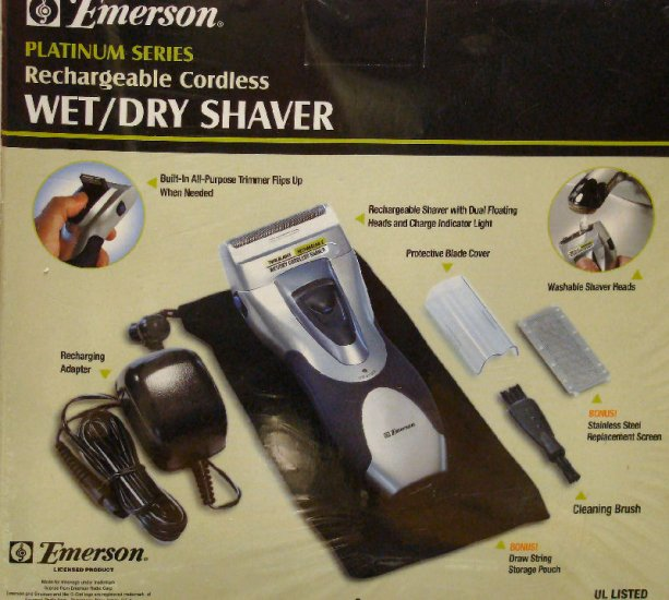 Emerson Wet/Dry Rechargeable Shaver System and Accesories Kit
