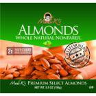 Madi K's Whole Natural Almonds, 5.5-Ounce Pouches (Pack of 4)