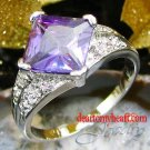 Princess Cut Amethyst Ladies Ring