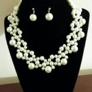 White Collar Necklace