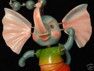 Bobble Head Elephant Mardi Gras Beads Moves Animated