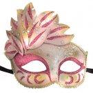 Venetian Mask Cascade Pink Mardi Gras Masquerade Costume Prom Party