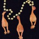 RUBBER CHICKEN Mardi Gras Beads Chickens Funny Joke