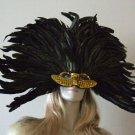 Venetian Mask Mardi Gras GOLD GLAMOUR Elaborate Party