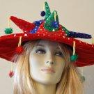Red Sombrero Crazy Party Hat Mardi Gras Carnival Funny