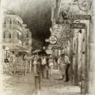 French Quarter Nights New Orleans Matted Art Print
