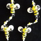 Smiley BEE BEES Gras Mardi Beads Bead Busy Honey Bumble Funny Hive Flower