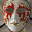 Full Face Mask Montego Red Costume Prom Mardi Gras New Orleans Party Masquerade