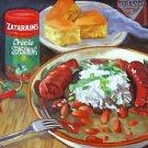 Red Beans & Rice Zatarain's New Orleans Baltas Matted Art Print Cajun Creole