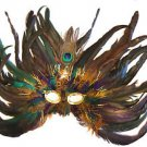 Feather Mask Flame Star Mardi Gras Colors Masquerade Ball Decor Party Prom