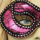 Pink With Lace Mardi Gras Ball Theater Play Party Mask