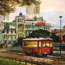 Street Car Jax Brewery New Orleans Baltas Matted Art Print French Quarter Cajun