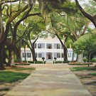 Rose Down Plantation Home House New Orleans Art Print Matted Print Baltas