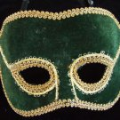 Venetian Mask Green Felt Mardi Gras Carnival Orleans