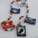 POW MIA Armed Forces Military Beads Authentic Never Forget Army Navy Air Marines