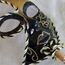 Black & Gold Venetian Masquerade Ball Party Mask Prom