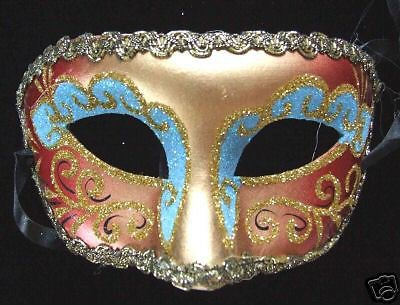 Venetain Mask Glitter Color Mardi Gras Carnival Party