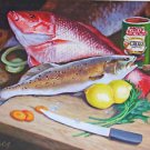 Snapper & Trout Seafood New Orleans Baltas Matted Art Print French Quarter