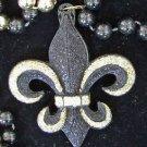Fleur de Lis Sparkle Mardi Gras Bead Necklace YOUR CHOICE OF MANY New Orleans