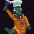 GATOR CHEF Alligator New Orleans Cook Mardi Gras Bead