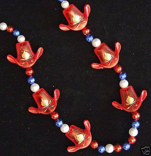 COWBOY HATS TEXAS SIX PACK Mardi Gras Beads 6 HATS