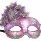 Venetian Mask Cascade Purple Mardi Gras Masquerade Costume Prom Party